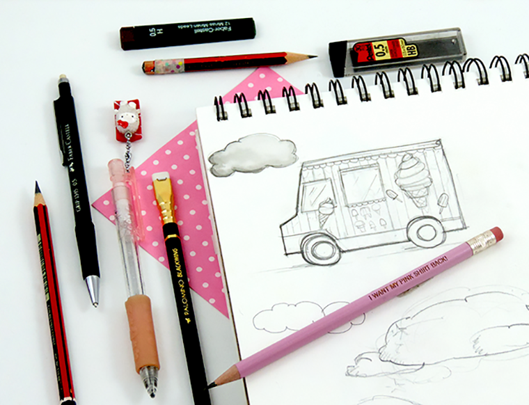 Josefina Fernandez Illustrations -my go-to art supplies 1