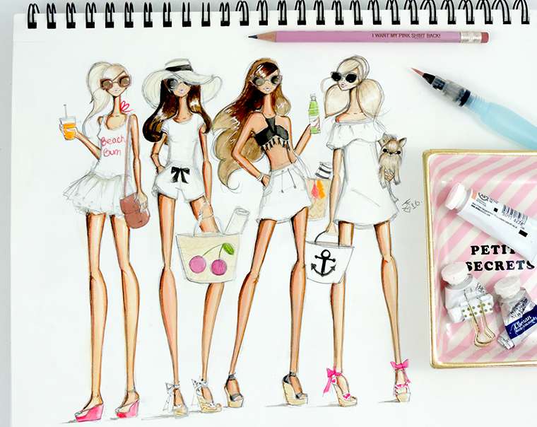 Josefina Fernandez Illustrations- Get Their Look beach babes