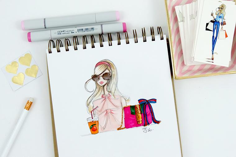 Josefina Fernandez Illustrations- Italian designer frenzy