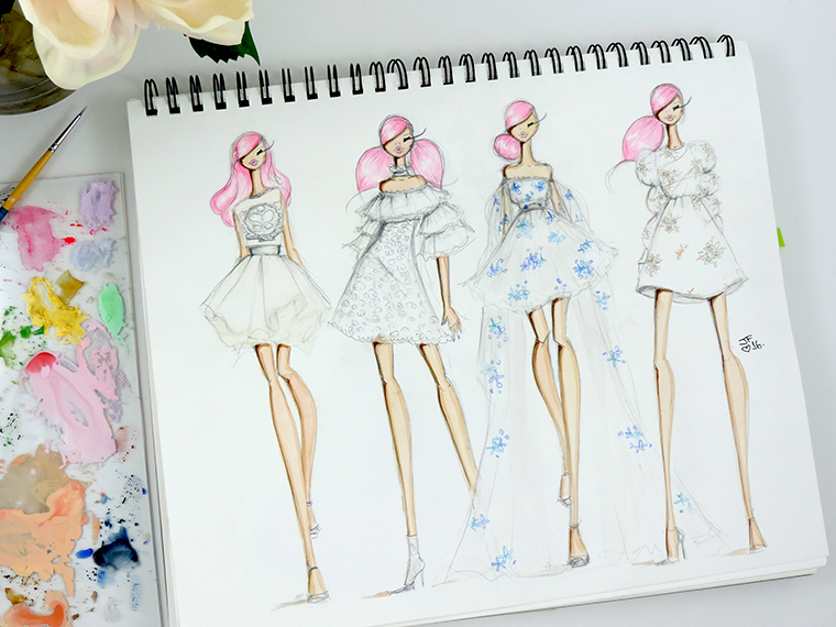 Josefina Fernandez Illustrations- Paris Couture week in my sketchbook 1