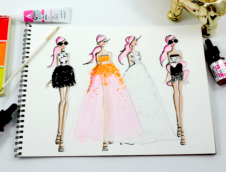 Josefina Fernandez Illustrations- Paris Couture week in my sketchbook 2