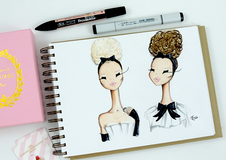 Josefina Fernandez Illustrations- Paris Couture week in my sketchbook 3