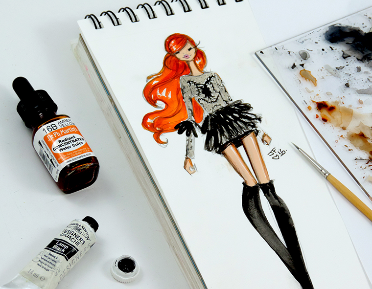 Josefina Fernandez Illustrations- Paris Couture week in my sketchbook 5