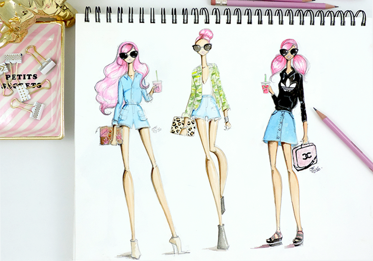 Josefina Fernandez Illustrations-get their look casual friday b