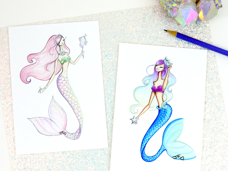 Josefina Fernandez Illustrations-mermaid necessities 1