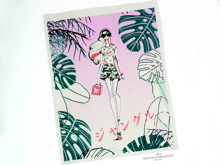 Jungle Pop by Miami fashion illustrator Josefina Fernandez