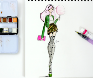 For the love of all things camo- fashion illustrator in Miami Josefina Fernandez