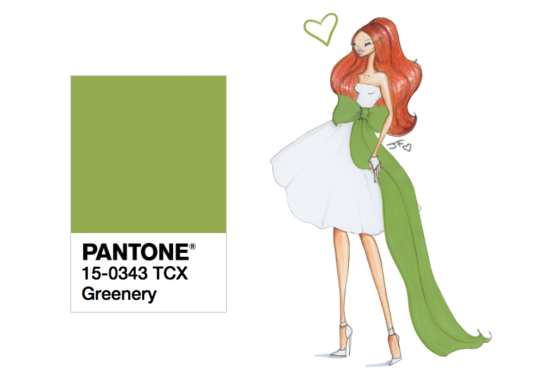 Greenery - Pantone color of the year 2017 by Josefina Fernandez