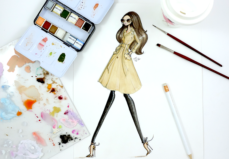 Josefina Fernandez fashion illustrator in miami 1