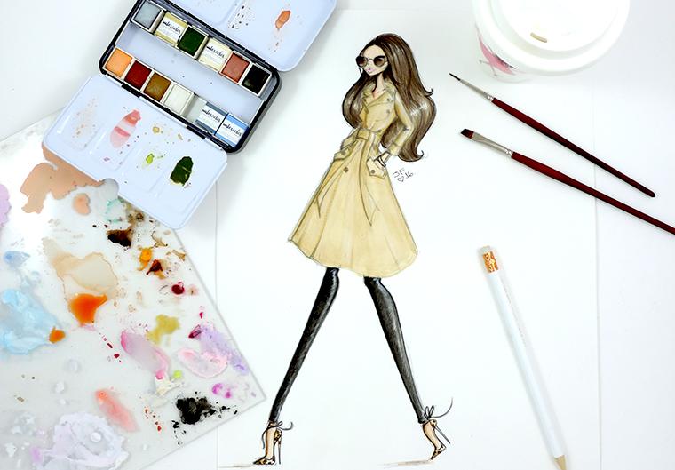 Josefina Fernandez fashion illustrator in miami 1