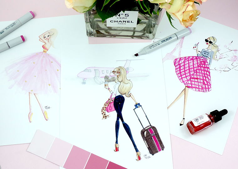 Josefina Fernandez fashion illustrator in miami