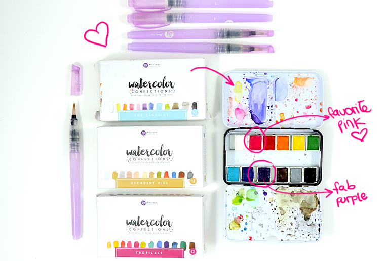 prima color confections watercolors and waterbrushes