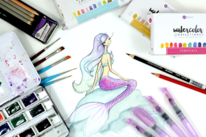mermaid illustration - favorite art supplies - Josefina Fernandez Illustrations