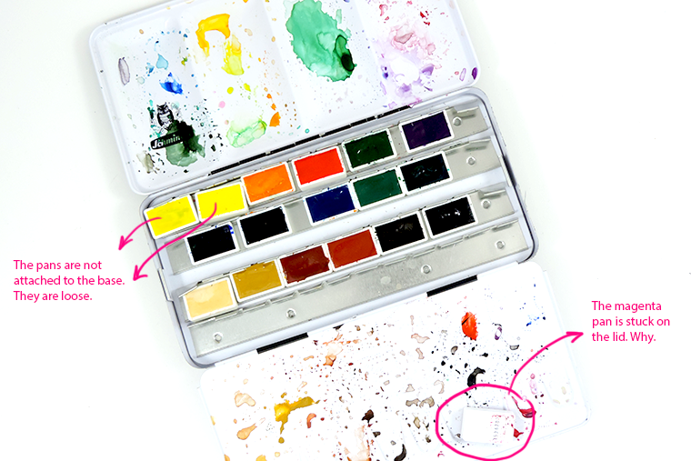 schmincke watercolor pan set