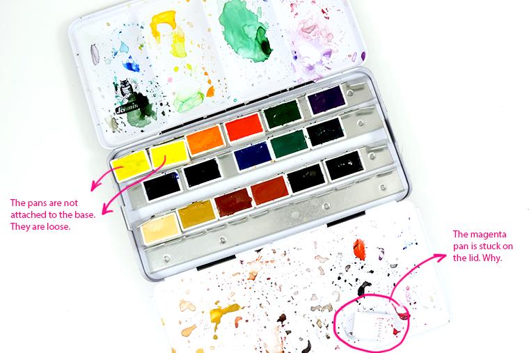 schmincke watercolor pan set