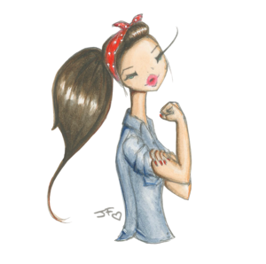 rosie the riveter by josefina fernandez international women's day