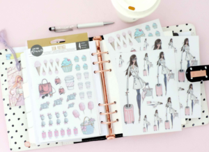 planner stickers fashion illustration josefina fernandez my prima planner