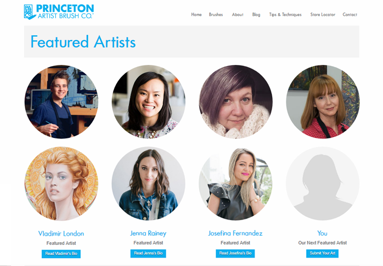 Princeton Brush Featured Artist