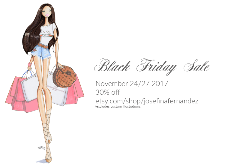 black friday etsy sale josefina fernandez illustrations