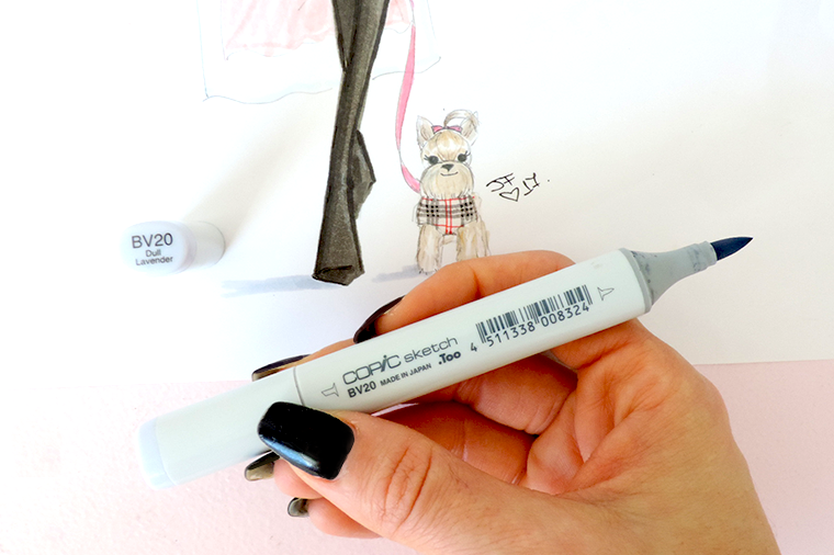 Copic Sketch BV20 dull lavender review
