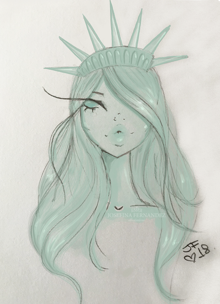 july 4th fashion illustration josefina fernandez illustrations