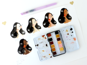 New Prima watercolor sets review and swatches: Complexions