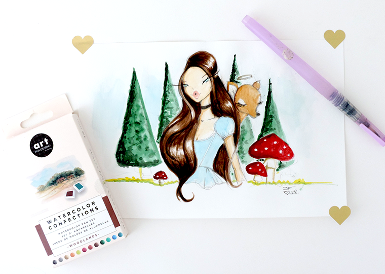 New Prima watercolor sets review and swatches Woodlands