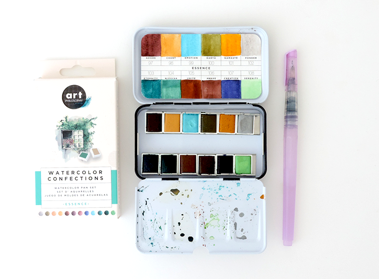 New Prima watercolor sets review and swatches Essence, Metallic Accents