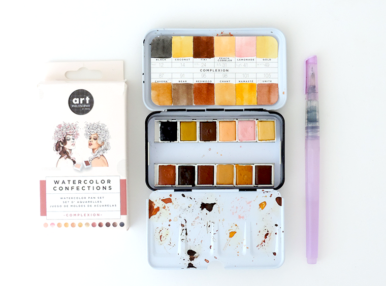 New Prima watercolor sets review and swatches: Complexions, Woodlands, Essence, Metallic Accents