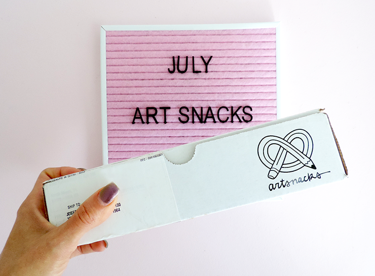 July Art Snacks box reveal and #artsnackschallenge