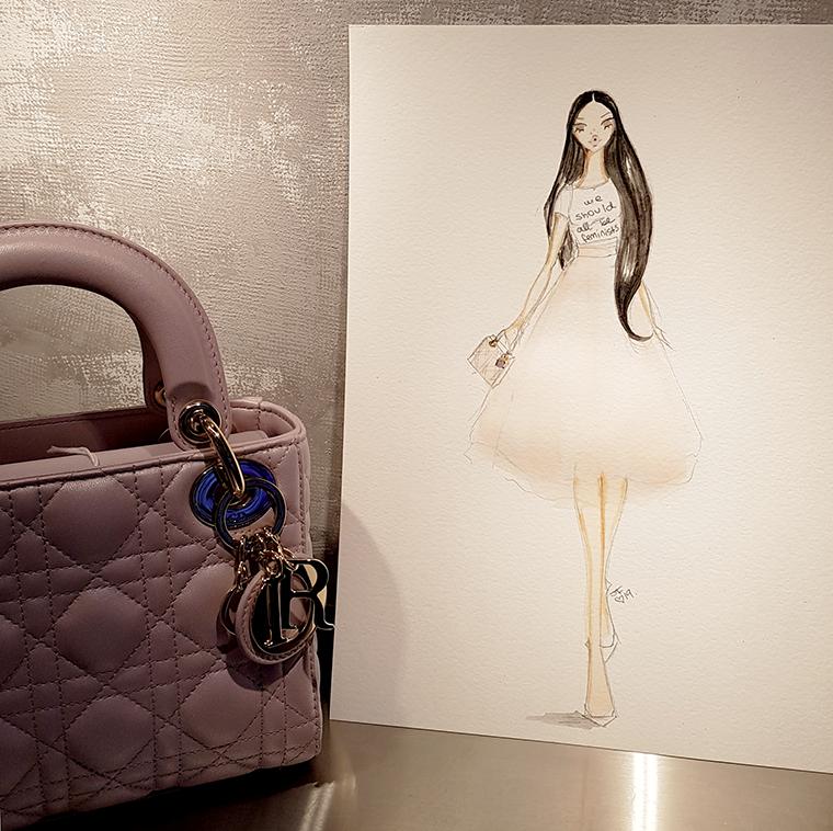 fashion illustrator Boca Raton Josefina Fernandez Dior 4
