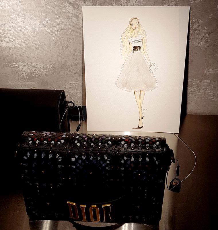 fashion illustrator Boca Raton Josefina Fernandez Dior 3