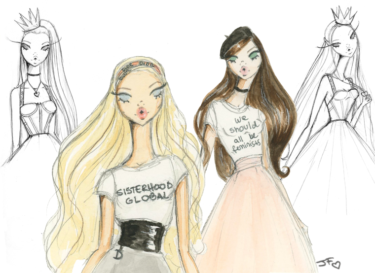 Live sketching for Dior at Saks Boca Raton