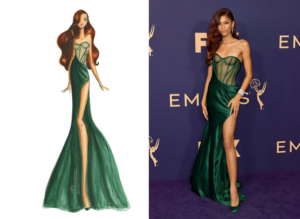 Zendaya Emmys fashion illustration by josefina fernandez