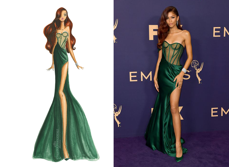fashion illustration zendaya emmys 2019 best dressed josefina fernandez