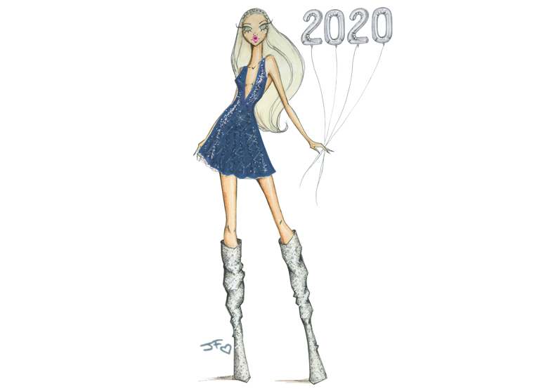 fashion illustration pantone color of the year 2020 classic blue by josefina fernandez