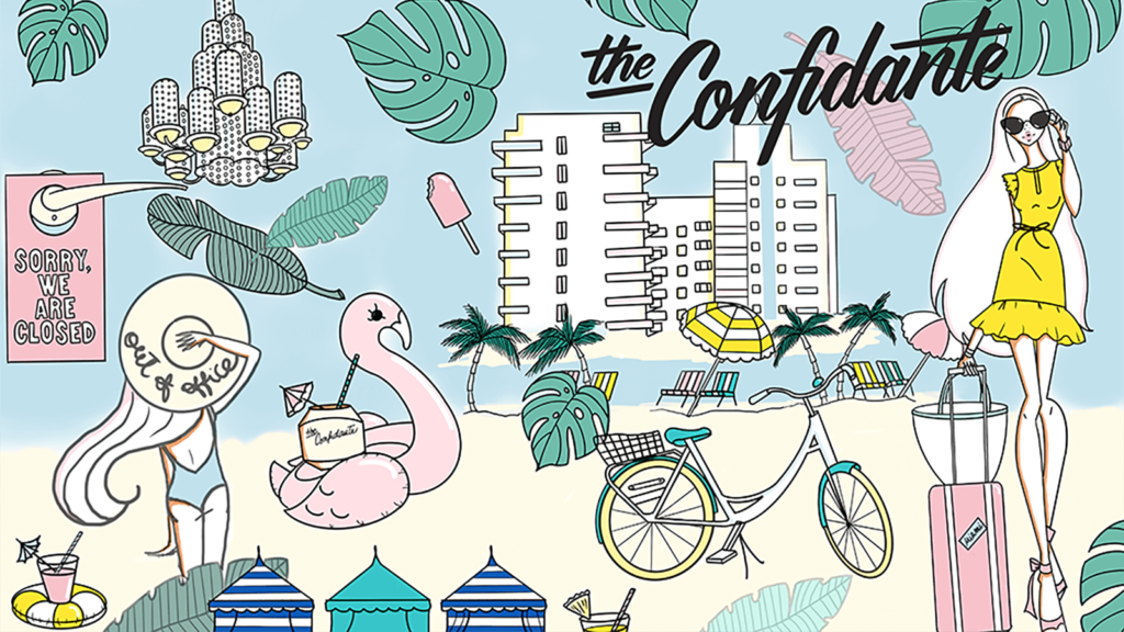 The Confidante. Miami Beach - Coloring Book