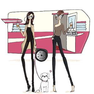 India, Zena and trailer - Mobile Boutique