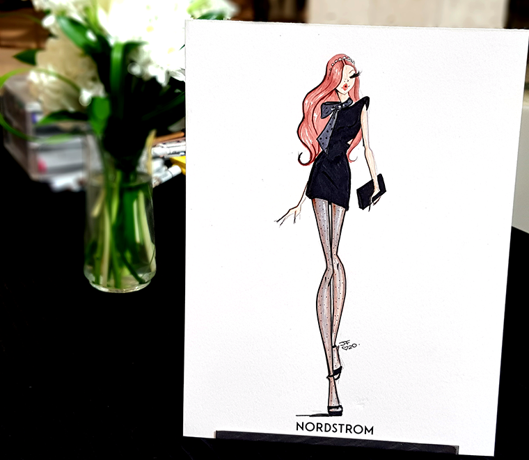 sketching live at nordstrom designer showcase event naples josefina fernandez
