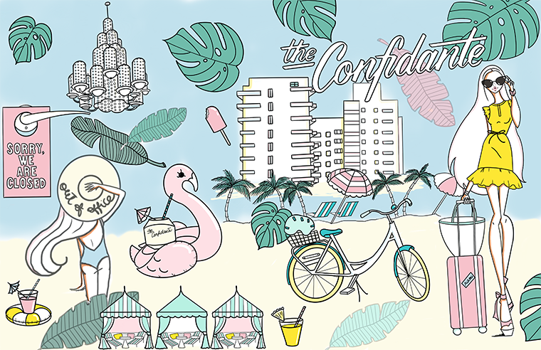 the confidante x josefina fernandez illustrations coloring book