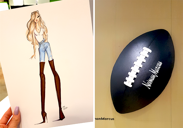 neiman marcus bal harbor miami fashion illustration superbowl