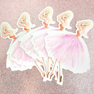 Ballerina Rose Gold Stickers by Josefina Fernandez