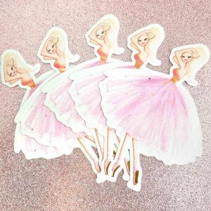 Ballerina Rose Gold Stickers by Josefina Fernandez