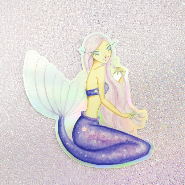 Mermaid Midnight Sky Collection Stickers by Josefina Fernandez