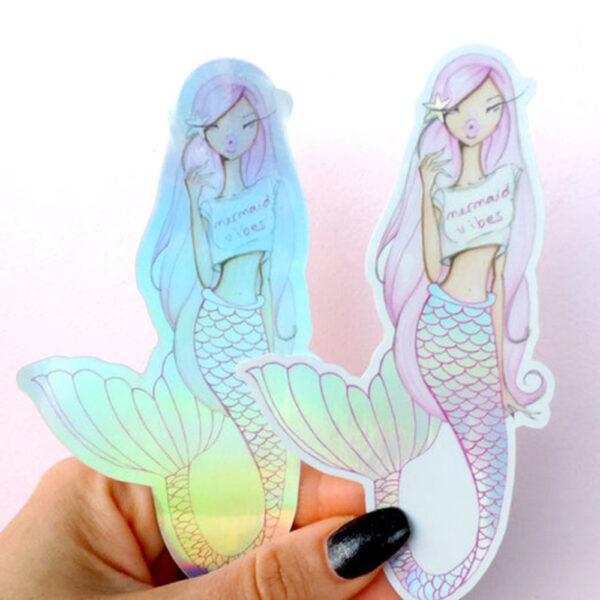 Mermaid Vibes Stickers by Josefina Fernandez