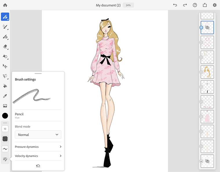 featured in adobe.com fashion illustrator josefina fernandez